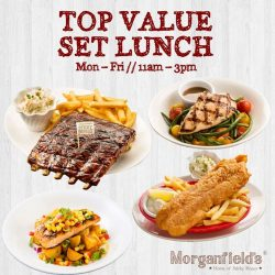 [Morganfield's] Lunch hour is the best hour of the day!