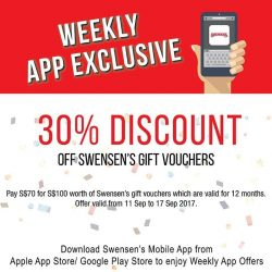 [Swensen's] From now till 20 Aug, simply pay $70 to enjoy $100 worth of vouchers!