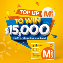 [M1] From now till 30 September 2017, top up your M Card and stand to win 10 sets of $1,500