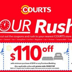 [Courts] COURTS 11th Hour Rush Sale is here!