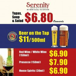 [Serenity Spanish Bar & Restaurant] All Day Promotions @ SERENITY 01-98/99 VivoCity  TEL 63768185