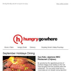 [HungryGoWhere] School's out, ! Bring the kids out for delicious grub this September Holidays