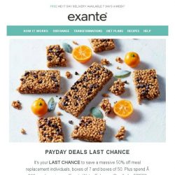 [Exante Diet] Last Chance | Payday Deals