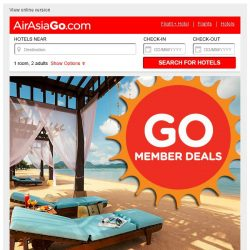 [AirAsiaGo] 🎁 Great News! Hotels on discount - Get minimum 50% off or more! 🎁