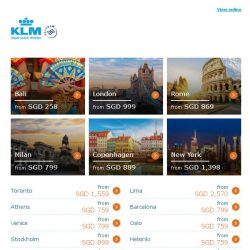 [KLM] ✈ , Dream Deals are here!