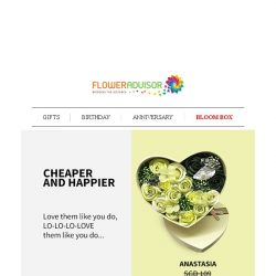 [Floweradvisor] When It's Cheaper, You Get Happier. Don't You?