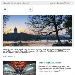 [Cathay Pacific Airways] Happening now: Tuesday Friend Fares from SGD378 all-in