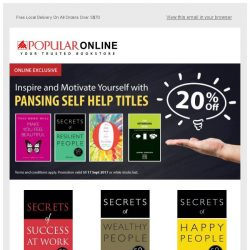 [Popular] Inspire and Motivate Yourself with These Self Help Titles at 20% Off Now!