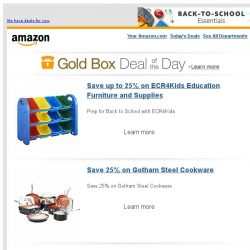 [Amazon] Save up to 25% on ECR4Kids Education Furniture...