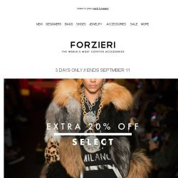[Forzieri] Extra 20% Off Select: Olympia Le Tan, MM6, Moschino, Converse