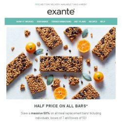 [Exante Diet] Half Price on ALL Bars