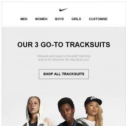 [Nike] Our 3 Go-To Tracksuits