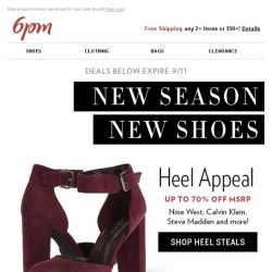 [6pm] Heel steals from Nine West & more!