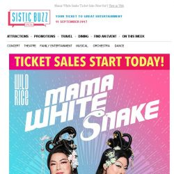 [SISTIC] Mama White Snake Ticket Sales Now On!