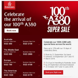 [Emirates] Don't miss our 100th A380 Super Sale