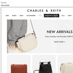[Charles & Keith] New Arrivals in Store