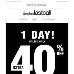[Last Call] Have you saved yet? 40% off SITEWIDE is ending