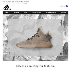 [Adidas] Tubular: Streets challenging fashion.