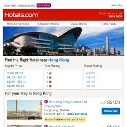 [Hotels.com] Great Hotels in Hong Kong and more - Book Now!