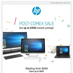 [HP Singapore] Get up to $400 instant savings!