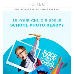 [Foreo] A Back to School Sale Sure to Make Kids Smile