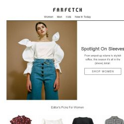 [Farfetch] Supersized sleeves | Trending now