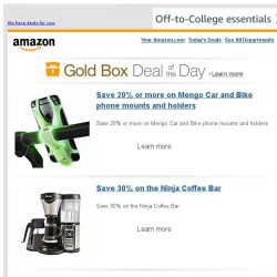 [Amazon] Save 20% or more on Mengo Car and Bike phone...