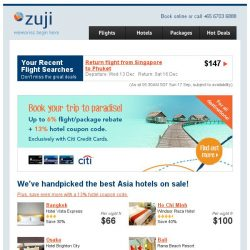 [Zuji] For your eyes only: 13% hotel coupon code!