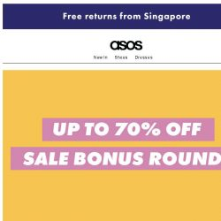 [ASOS] Up to 70% off – an extra shot