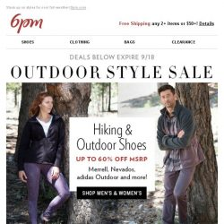 [6pm] Up to 60% off Merrell, Columbia and more!