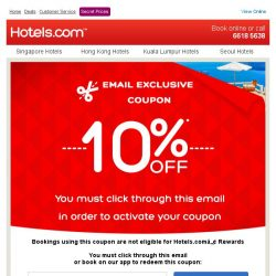[Hotels.com] Congratulations! You've qualified for an 10% coupon