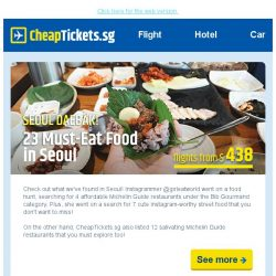 [cheaptickets.sg] 23 Must-Try Food in Seoul - Grab our Travel Deal to Seoul | $88 cash rebate & more!