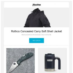 [Massdrop] Rothco Concealed Carry Soft Shell Jacket, Spyderco Delica 4 (ZDP-189 Blade), Stanley Classic 16-Ounce Vacuum Camp Mug and more...
