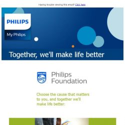 [PHILIPS] Which good cause matters to you?