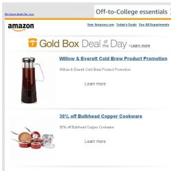 [Amazon] Willow & Everett Cold Brew Product Promotion