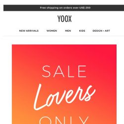 [Yoox] For sale lovers only: EXTRA 25% off the sale
