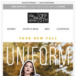 [Saks OFF 5th] Up to 70% OFF Your Fave Brands for Fall