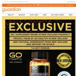 [Guardian] New & Exclusive: Go Healthy #1 supplement from New Zealand