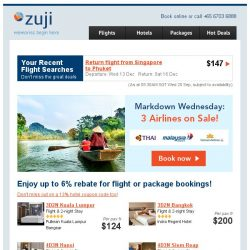 [Zuji] Thai Airways flights & more on sale fr $136 + package deals!