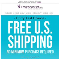 [FragranceNet] Open promptly - because we've got important news 😉 Free Shipping