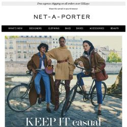 [NET-A-PORTER] Off-duty updates to make now