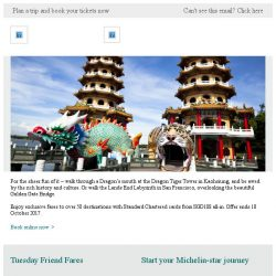[Cathay Pacific Airways] Standard Chartered card exclusive fares from SGD188 all-in