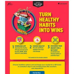[Cold Storage] Choose healthier options to win exciting prizes!