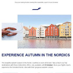 [Finnair] Visit our top destinations in the Nordics
