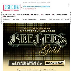 [SISTIC] Bee Gees Gold - Book Your Tickets Now