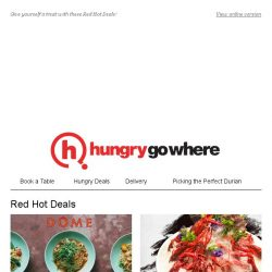 [HungryGoWhere] Red Hot Deals: 1-for-1 Mains, 30% Off Set Menu, 1-for-1 Steak @ $35++, more!