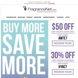 [FragranceNet] It's baaaaack! The B-I-G Sale -- $50 OFF [one day only]!