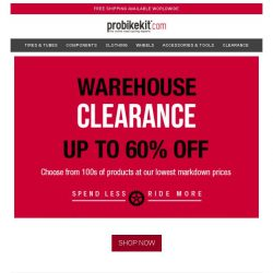 [probikekit] Warehouse Clearance: Save up to a massive 60%! [While stocks last]