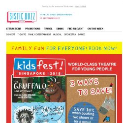 [SISTIC] 3 Ways to Save for KidsFest 2018!