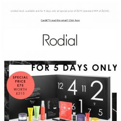 [RODIAL] Discover Our WEB EXCLUSIVE Advent Calendar Worth £215
